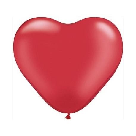 Balon w kształcie serca, czerwony