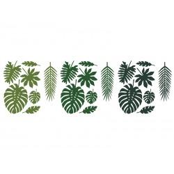 Dekoracje Aloha - Liście tropikalne, mix (1 op. / 21 szt.)
