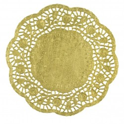 Podkładki papierowe pod talerze, złote