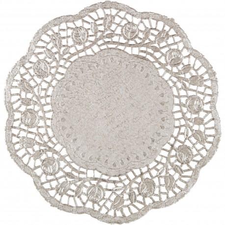 Podkładki papierowe pod talerze, srebrne