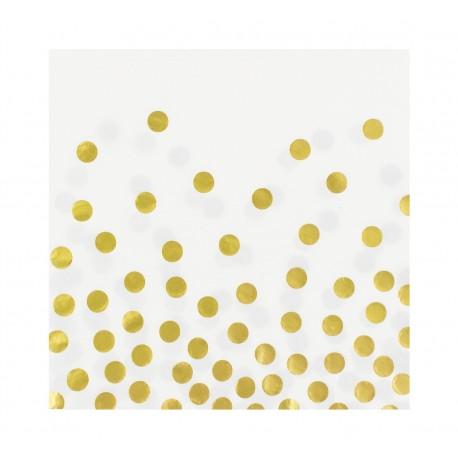 """Serwetki papierowe """"Złote groszki"""", białe"""