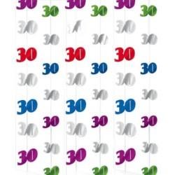 "Dekoracja wisząca, ""30"", multikolor"