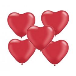 """Balon gumowy 10"""" serce, czerwony, 5szt"""