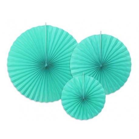 Rozeta dekoracyjna 3 szt. Tiffany Blue