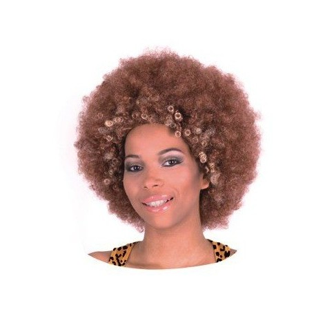 Peruka Afro, brąz