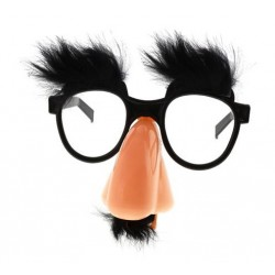 Okulary z nosem i wąsami