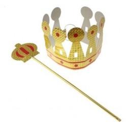 Zestaw Króla eko, korona+ berło
