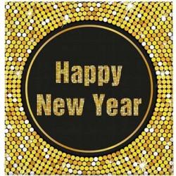 """Serwetki papierowe """"Happy New Year Retro"""", 20szt."""