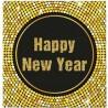 """Serwetki papierowe """"Happy New Year"""" Retro, 20 szt."""