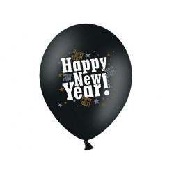 """Balon gumowy 14"""" Happy New Year, 1szt."""