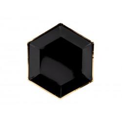Talerzyki, czarny, 23cm