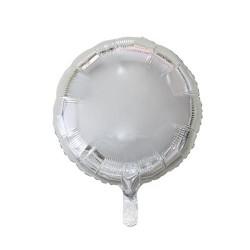 """Balon foliowy 18"""", Okrągły srebrny"""