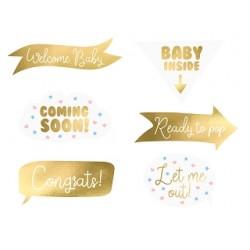 Gadżety do zdjęć Baby shower, mix (1 op. / 6 szt.)