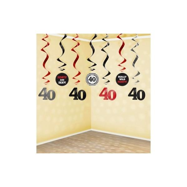 świderki Na 40 Urodziny 7szt Ahahapl Party Shop