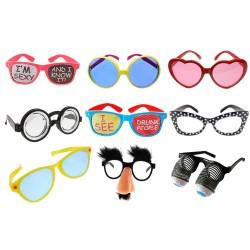 Rekwizyty do fotobudki śmieszne okulary gadżety