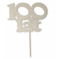 "Topper na tort ""100 lat"""