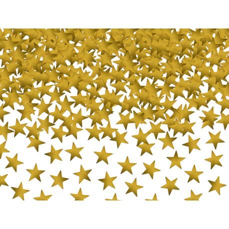 Konfetti Gwiazdki, złoty, 10mm, 30g