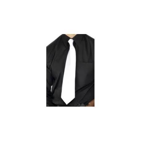 Krawat satynowy biały