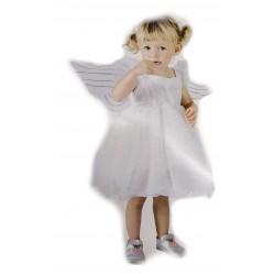 Strój anioła dziecięcy - Sukienka + skrzydełka