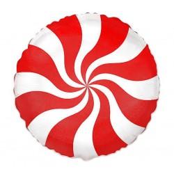 """Balon foliowy 18"""" Lizak czerwony"""