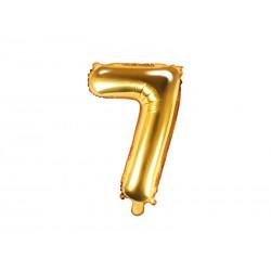 Balon foliowy cyfra 7, złoty, 40cm