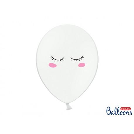 Balon 30cm Buźka, Pastel Pure White 1szt