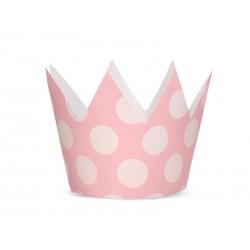 Korona Party, jasny różowy, 10cm