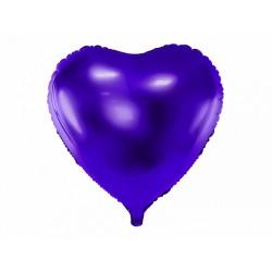 """Balon foliowy 18"""", serce j.różowy,1szt"""