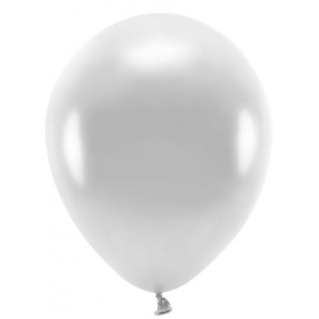 "Balon gumowy 30cm/14"", srebrny metalic 1szt."