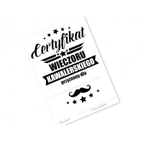 Certyfikat na Wieczór Kawalerski