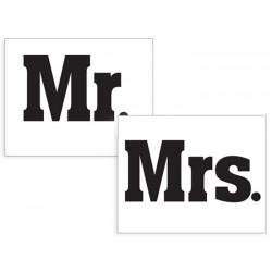 Naklejki na buty MR & MRS (2szt.)