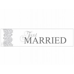 Tablica rejestracyjna JUST MARRIED floral