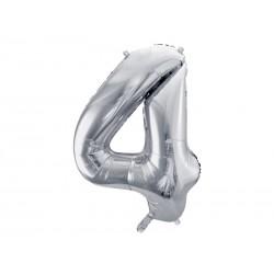 "Balon foliowy 34"" cyfra 1, srebrny 1szt"