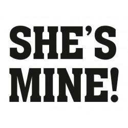 Naklejka na buty She's mine! (2szt.)
