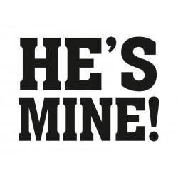 Naklejka na buty He's mine! (2szt.)