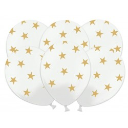 """Balony 14"""" Gwiazdki, Pastel Black, 50szt"""