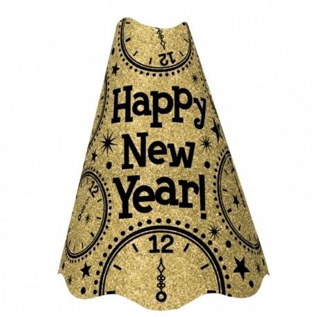 Czapka NEW YEAR, złota duża