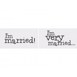 "Tabliczki ""I'm married/I'm very married"", 2szt"