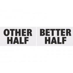 Tabliczki Other Half&Better Half