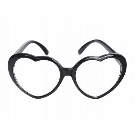 Okulary Serduszka, czarne 1szt.