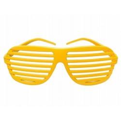 Okulary Żaluzje, żółte 1szt.