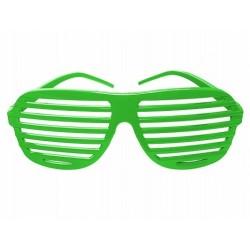 Okulary Żaluzje, zielone 1szt.