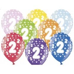 """Balon gumowy 14"""" 2 Urodziny, 1szt."""