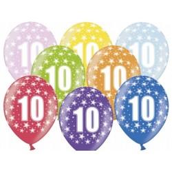 """Balon gumowy 14"""", 10 Urodziny, 1szt."""