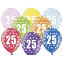 """Balon gumowy 14"""" 25 Urodziny, 1szt."""