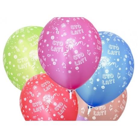 """Balon gumowy 14"""", Sto Lat, 1szt."""