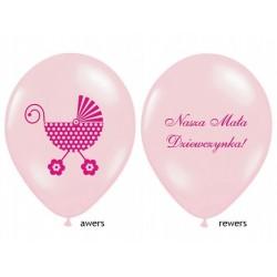 """Balon gumowy 14"""" Nasza Mała Dziewczynka, różowy1szt."""
