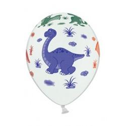 "Balon  gumowy 14"", Dinozaury 1szt."