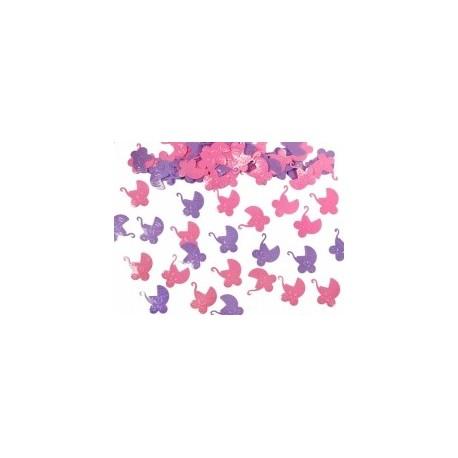 Konfetti Wózki różowe/fioletowe