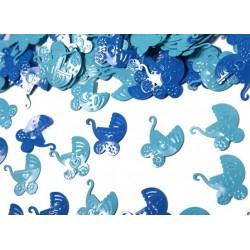 Konfetti Wózki niebieskie/błękitne